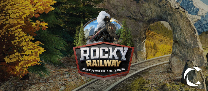 rocky railway vacation bible school logo